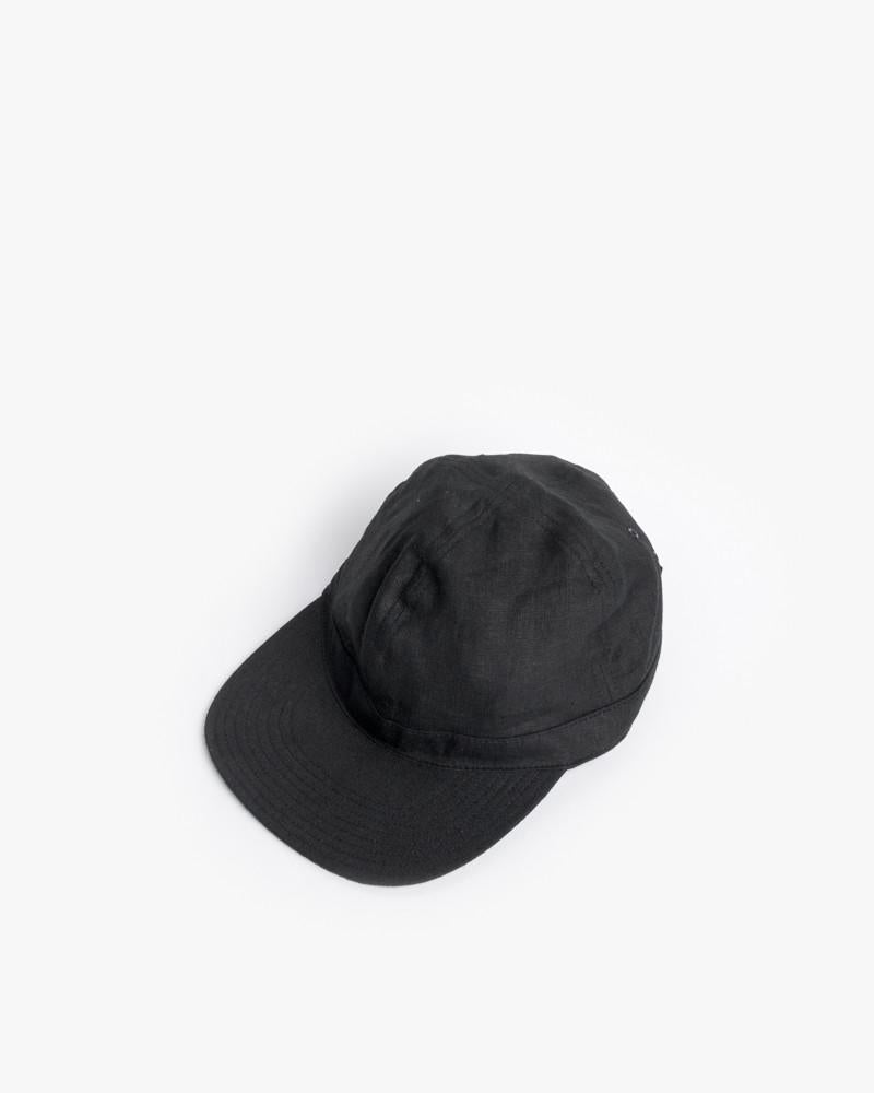 Linen Scout Cap in Black by SMOCK Man at Mohawk General Store - 1