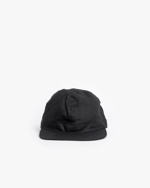 Linen Scout Cap in Black by SMOCK Man at Mohawk General Store - 2
