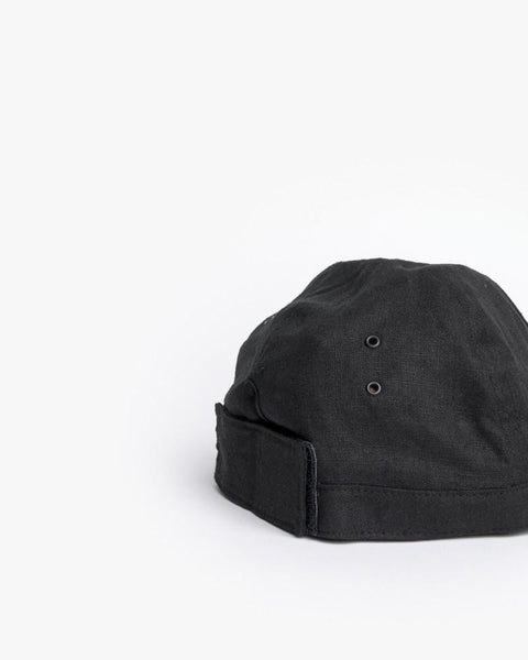 Linen Scout Cap in Black by SMOCK Man at Mohawk General Store - 4