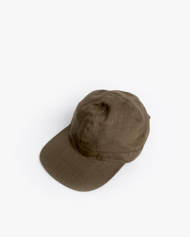 Linen Scout Cap in Olive by SMOCK Man at Mohawk General Store - 1