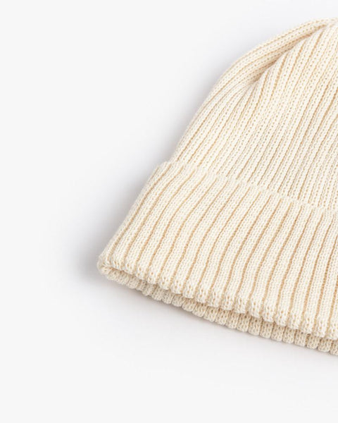 Washi Beanie in White by SMOCK Man at Mohawk General Store - 2