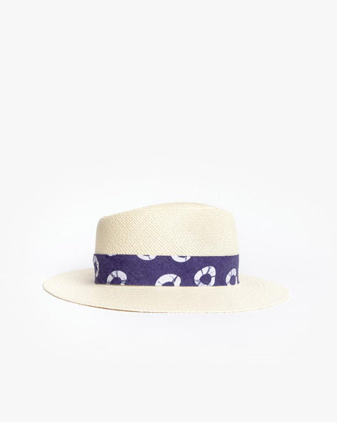 Panama Hat with Indigo Ribbon by Post Imperial at Mohawk General Store - 2