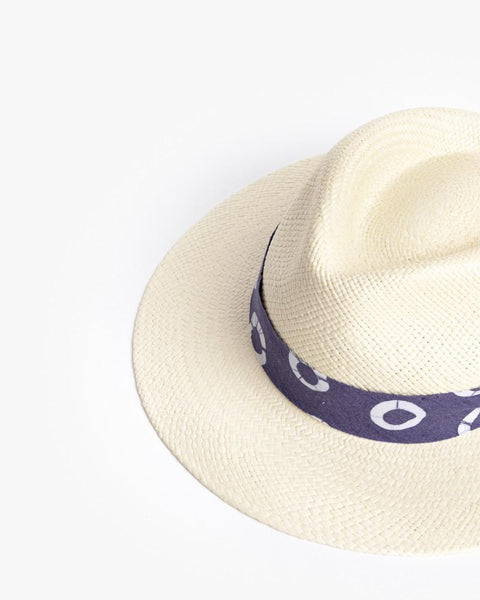 Panama Hat with Indigo Ribbon by Post Imperial at Mohawk General Store - 3