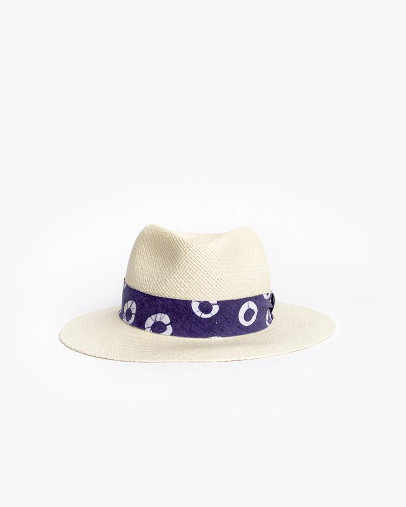 Panama Hat with Indigo Ribbon by Post Imperial at Mohawk General Store - 1