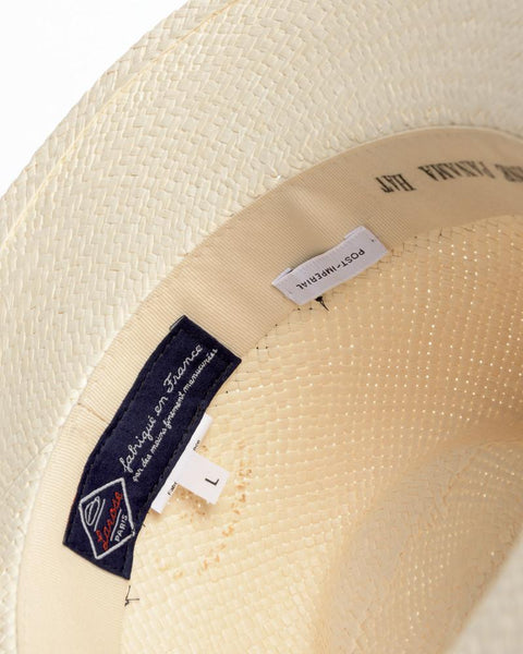 Panama Hat with Indigo Ribbon by Post Imperial at Mohawk General Store - 4