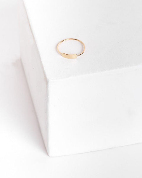 Blade Ring in 14k Yellow Gold by Kristen Elspeth at Mohawk General Store - 1
