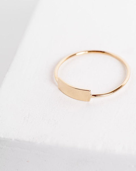 Blade Ring in 14k Yellow Gold by Kristen Elspeth at Mohawk General Store - 2