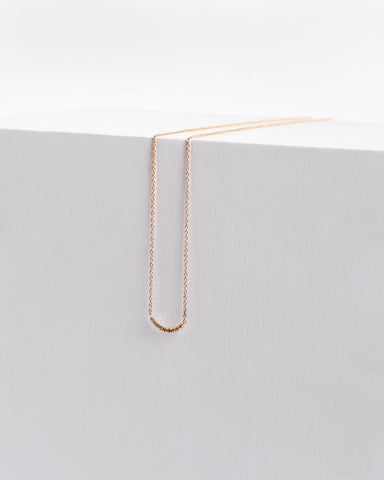 Pave Arc Necklace in 14k Yellow Gold by Kristen Elspeth at Mohawk General Store - 1