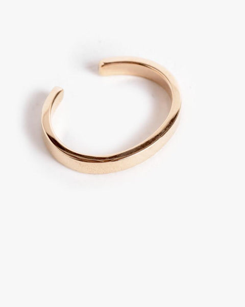 Bar Ear Cuff in 14K Yellow Gold by Kristen Elspeth at Mohawk General Store - 2