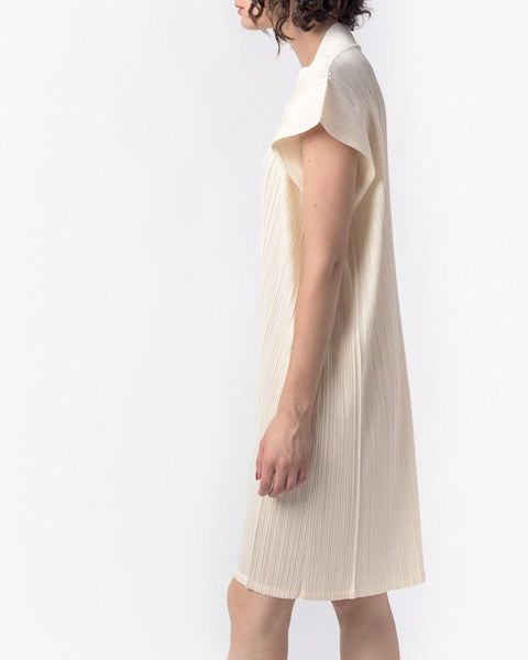 Square Dress in Off White by Issey Miyake Pleats Please at Mohawk General Store - 2