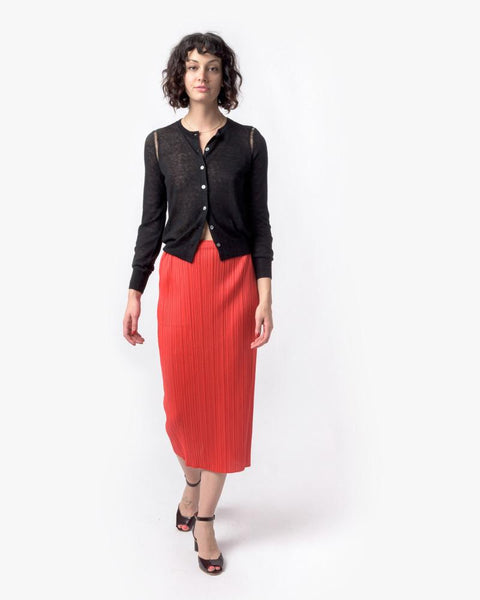 Slim Skirt in Red by Issey Miyake Pleats Please at Mohawk General Store - 4