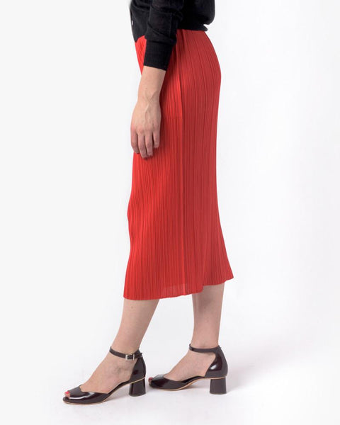 Slim Skirt in Red by Issey Miyake Pleats Please at Mohawk General Store - 2