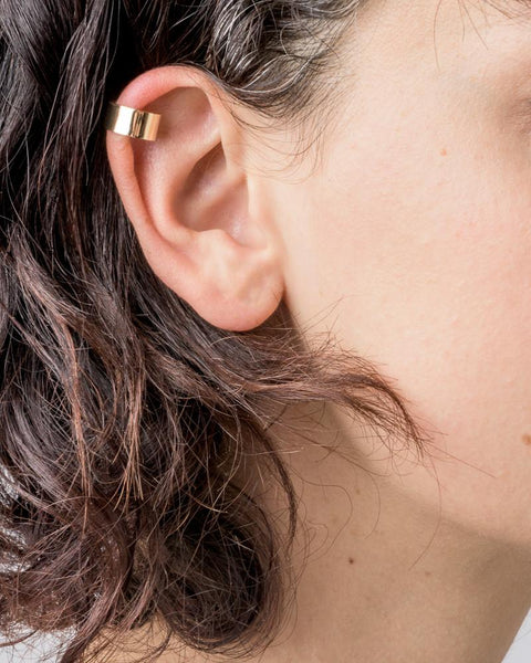 Shield Ear Cuff in 14k Yellow Gold by Kristen Elspeth at Mohawk General Store - 4