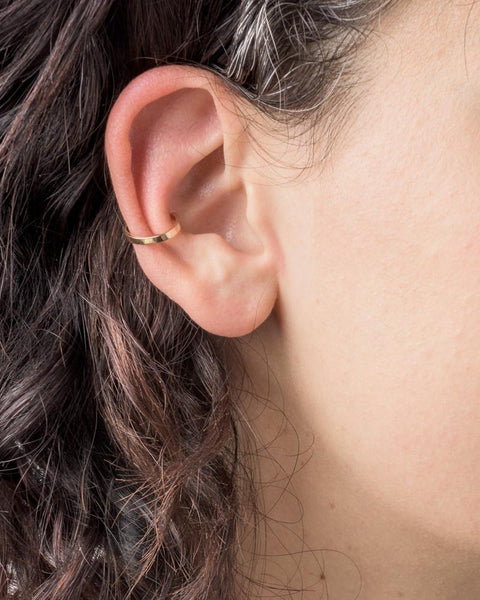 Bar Ear Cuff in 14K Yellow Gold by Kristen Elspeth at Mohawk General Store - 3
