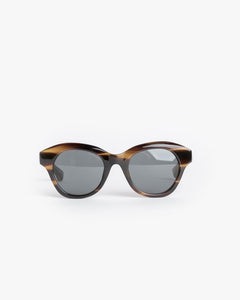 Sunglasses in Swirl Horn/Silver/Grey by Dries Van Noten x Linda Farrow at Mohawk General Store - 1