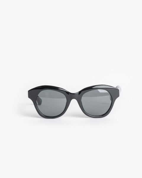 Thin Sunglasses in Black/Silver/Grey by Dries Van Noten x Linda Farrow at Mohawk General Store - 1