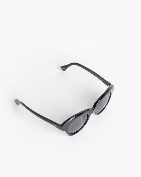 Thin Sunglasses in Black/Silver/Grey by Dries Van Noten x Linda Farrow at Mohawk General Store - 2