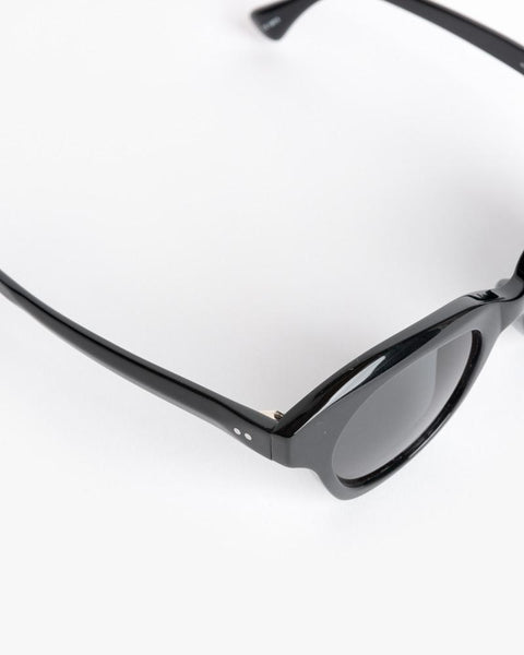 Thin Sunglasses in Black/Silver/Grey by Dries Van Noten x Linda Farrow at Mohawk General Store - 4