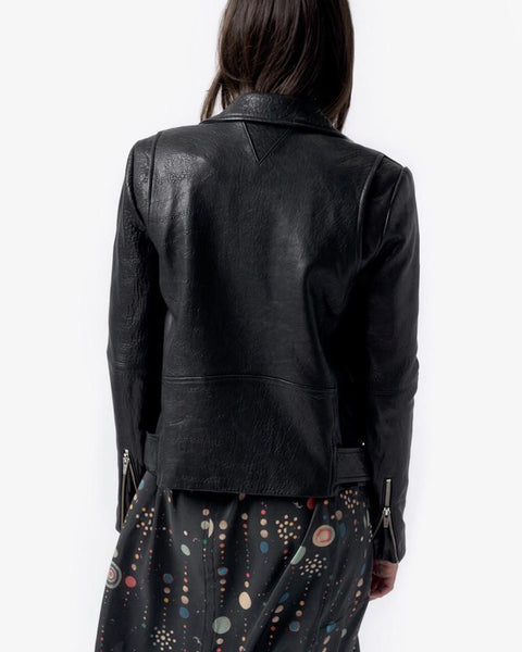 Jayne Leather Jacket in Classic Black by VEDA at Mohawk General Store - 6