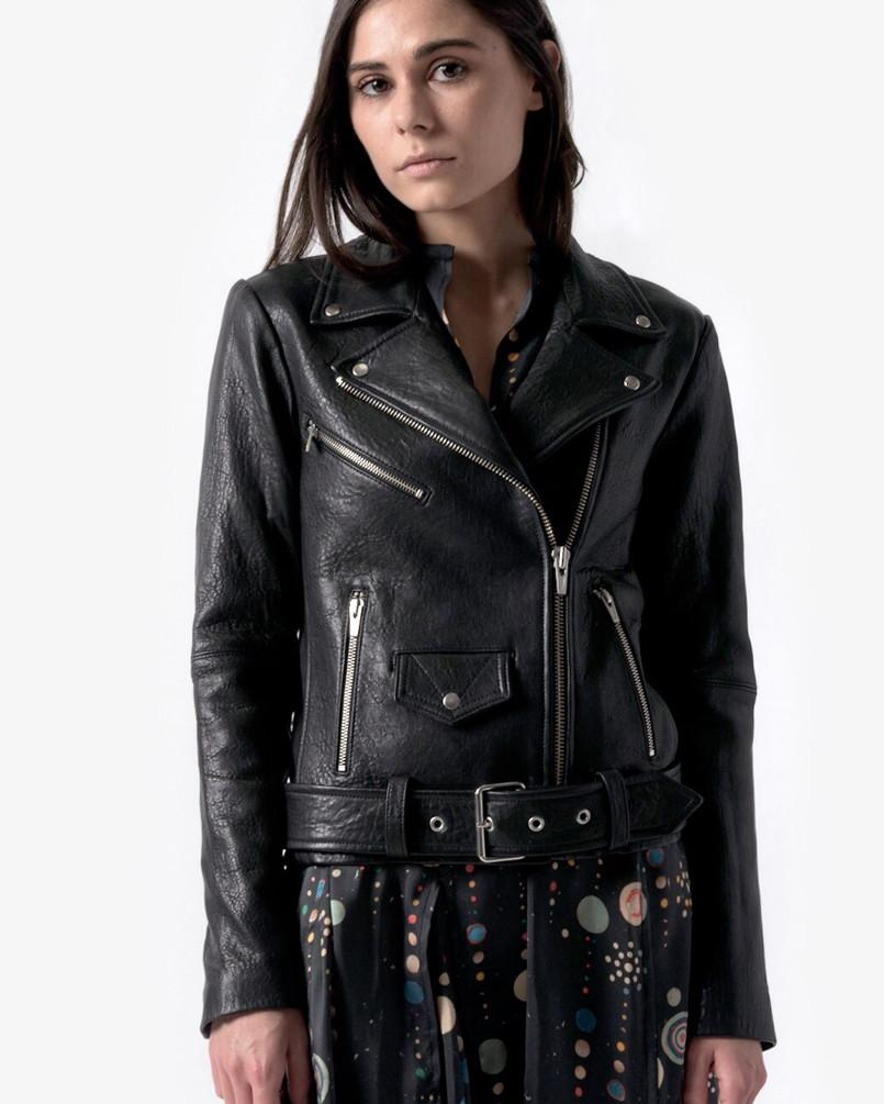 Jayne Leather Jacket in Classic Black by VEDA at Mohawk General Store - 1