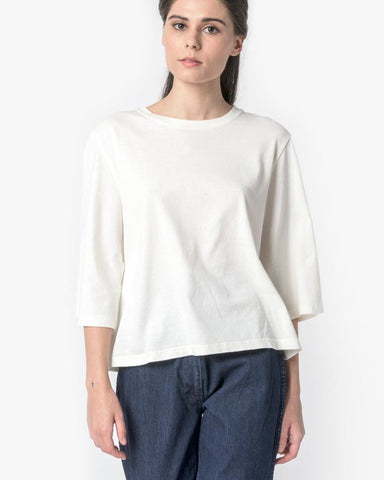 Wide Sleeve Top in Natural by SMOCK Woman at Mohawk General Store - 1