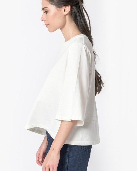 Wide Sleeve Top in Natural by SMOCK Woman at Mohawk General Store - 4