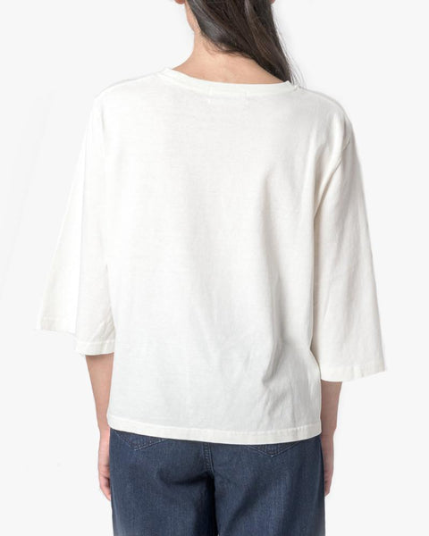 Wide Sleeve Top in Natural by SMOCK Woman at Mohawk General Store - 6