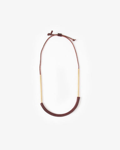 Bare Circuit Necklace in Oxblood by Crescioni at Mohawk General Store - 1