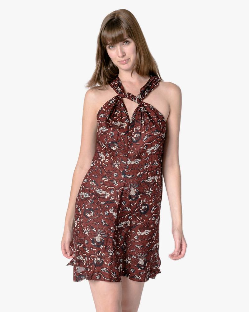 Aba Dress in Burgundy by Isabel Marant Étoile at Mohawk General Store