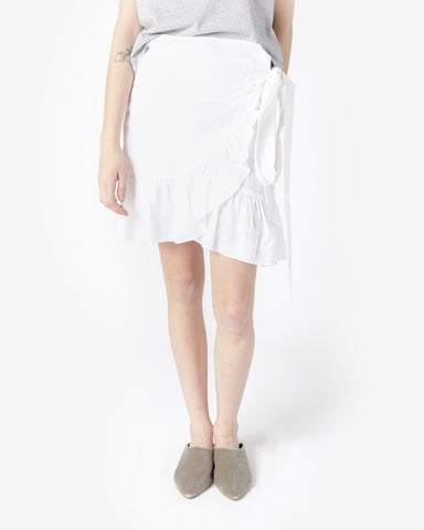 Dempster Skirt in White by Isabel Marant Étoile at Mohawk General Store