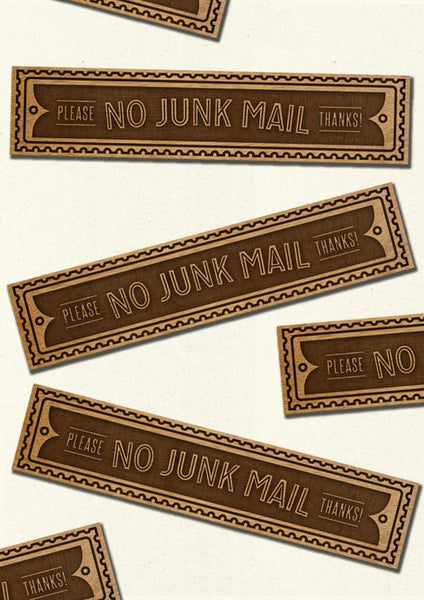 NO JUNK MAIL - Letter box sign