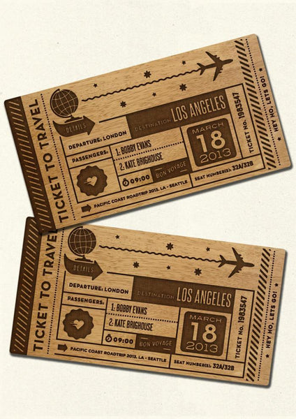 PERSONALISED TICKET - TRAVEL