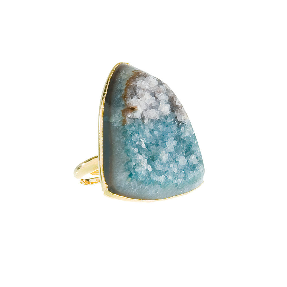 Druzy Ring - Teal Agate