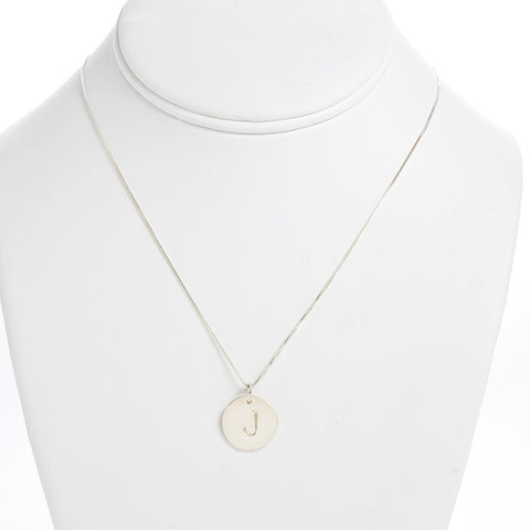 Coin Initial Necklace