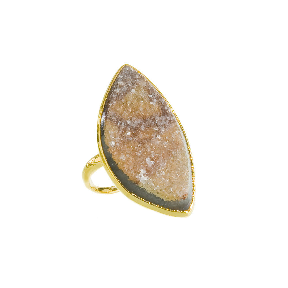 Druzy Ring - Brown Agate