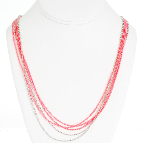 Day-Glo Dangle Necklace--Pop of Pink