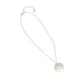Bird's Nest Necklace-Matte Silver