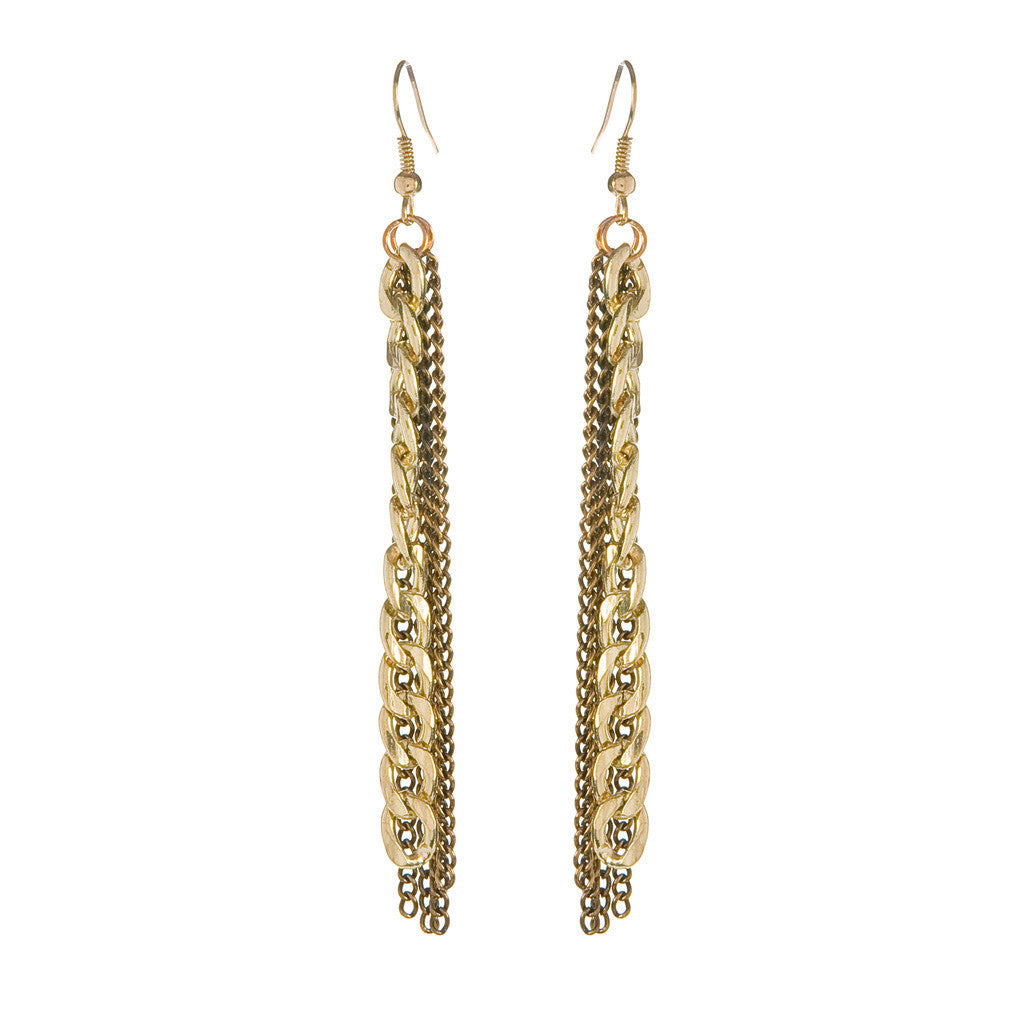 Chainy Earrings - Gold