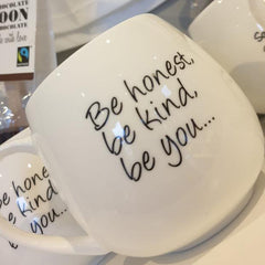 Happy Quote Bone China Mug