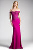 Morvarieds - Off the Shoulder Formal Dress, fitted gown