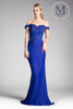 Off the Shoulder Formal Dress, fitted gown