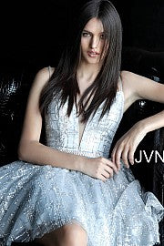 Silver Cocktail Dress Jovani JVN62512 at Morvarieds