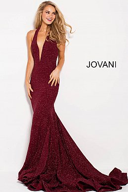 Fitted Plunging Neckline Jovani Gown 47075 at Morvarieds