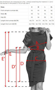 Dress with Asymmetrical Skirt and Cowl Neck - Morvarieds Fashion