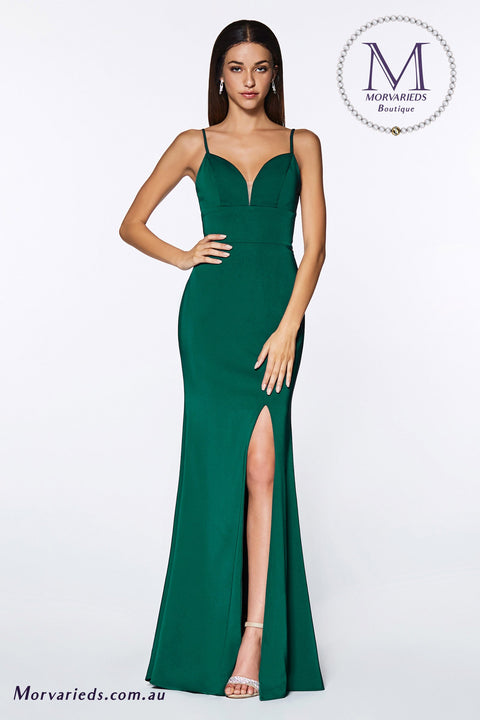 Evening Gown | Fitted sweetheart neckline with leg slit and open back - Morvarieds Fashion