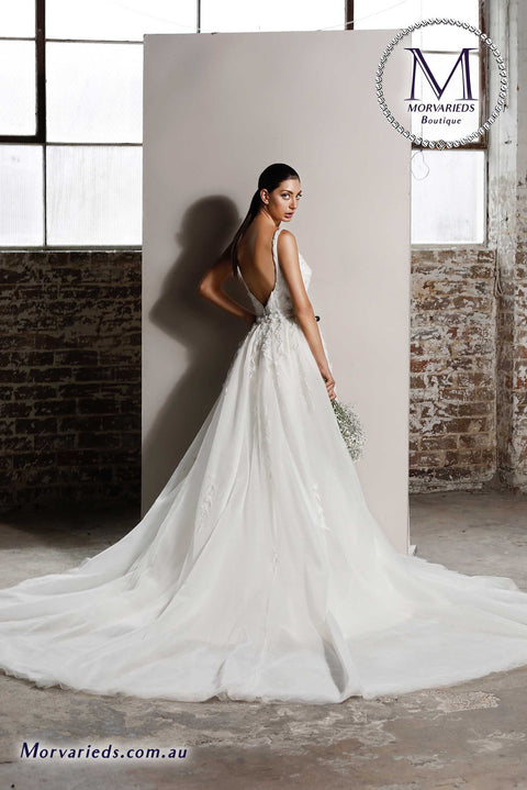 Wedding Dress Overlay Skirt | Jadore Bridal Dress Overlay Skirt for W111 - Morvarieds Fashion