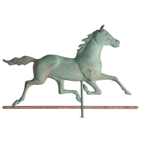 COPPER VERDIGRIS HORSE WEATHERVANE