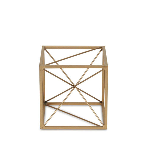 BONDS SMALL ABSTRACT CUBE - GOLD