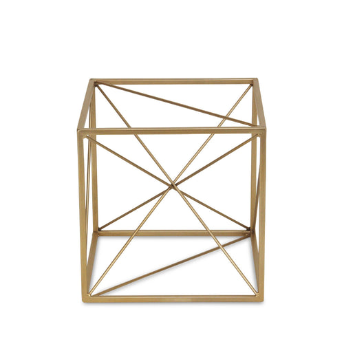 BONDS LARGE ABSTRACT CUBE - GOLD