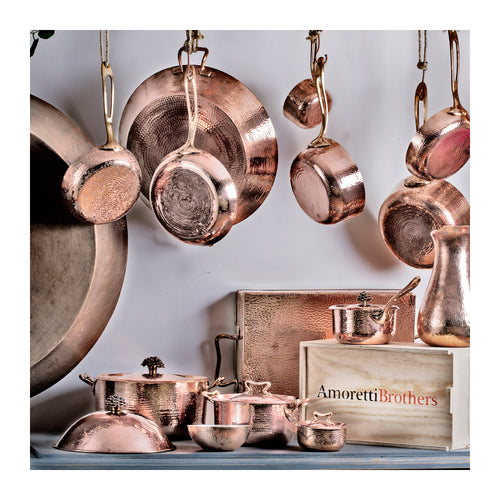 "AMORETTI BROTHERS 9"" COPPER FRY PAN"